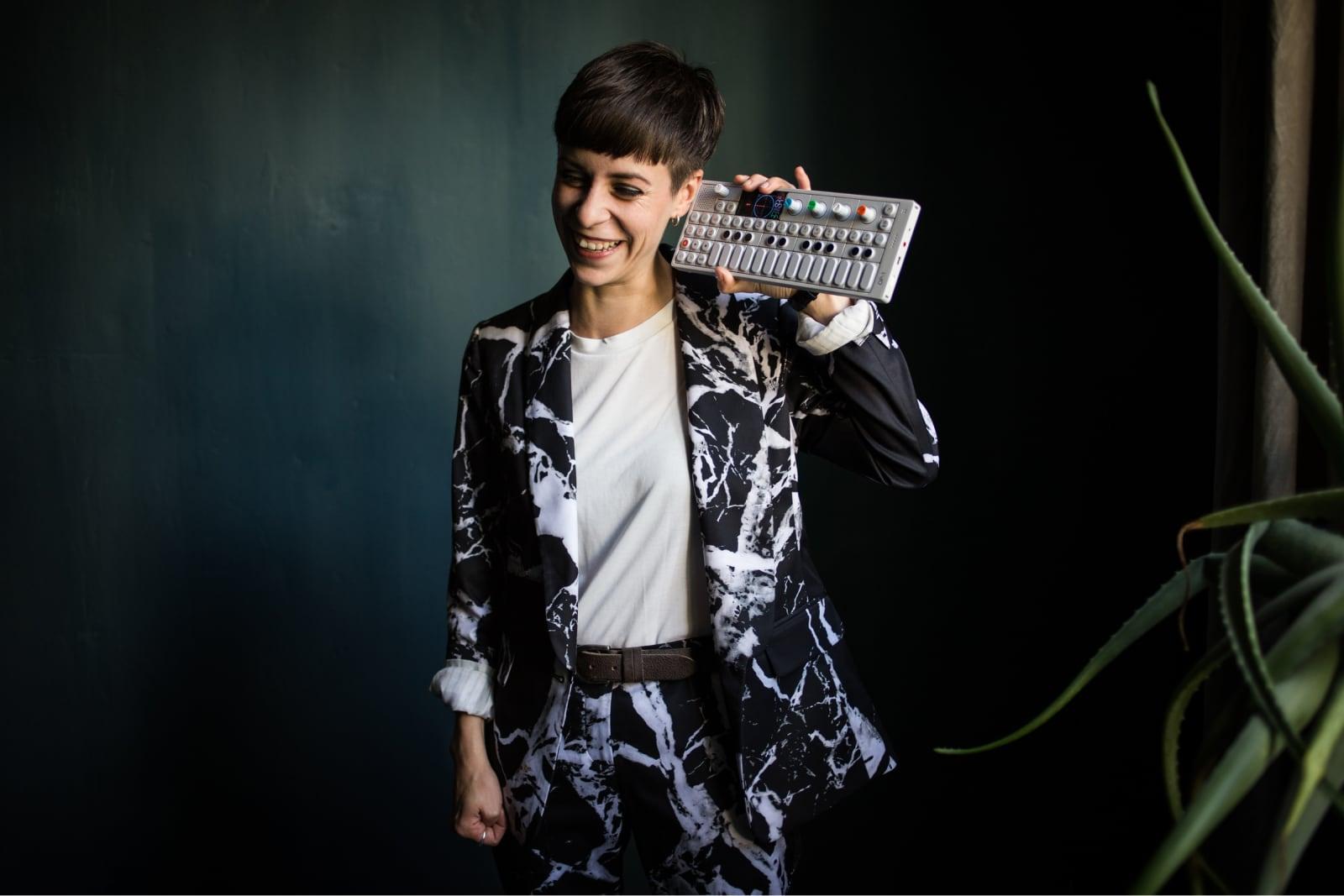 Laura Winkler mit OP-1